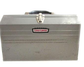 Craftsman Metal Toolbox Vintage Old