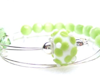 Fresh Lime Row Counter Bracelet Abacus, Count Up to 100, Perfect for Knitting or Crochet