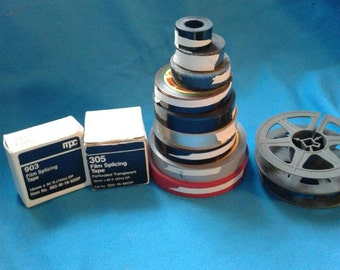 16mm Splicing Tape, Adhesives, Blank Leader, Found Footage and Reels.