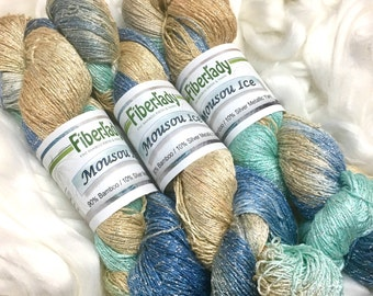 Pure Silver and Bamboo Yarn Summer's Day