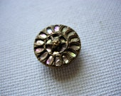 Beautiful Vintage Mother of Pearl and Metal Button