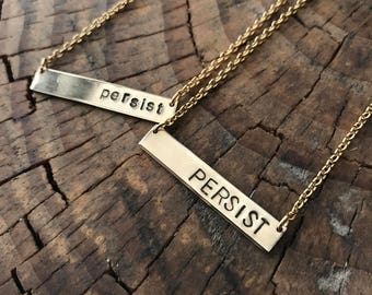 Persist Necklace Golden