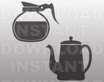 Coffee Pot SVG File Coffee svg Kitchen svg Coffee Lover svg Coffee Silhouette Cricut svg file Vector Clip Art For Commercial & Personal Use