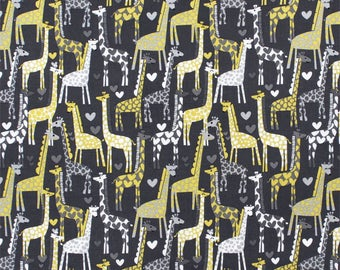 Giraffe Love by Michael Miller, sold by HALF YARD.  Spotted Love.