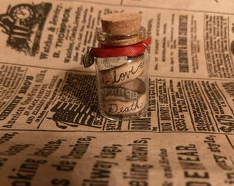 Princess Bride miniature message in a bottle