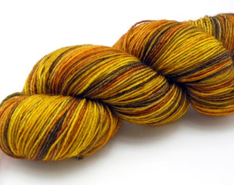 Hidden Tiger Watercolor Stripes-- Dyed to Order Self Striping Hand Dyed Targhee Sock Yarn