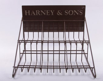Harney and Sons, Fine Tea, Store Display, Countertop Organizer, Desk Organizer, Office, Vintage ~ The Pink Room ~ 170128