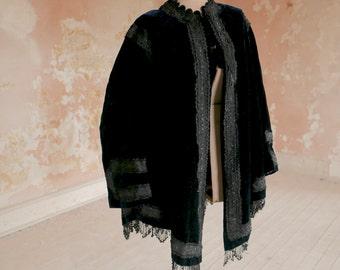 Early 1800s Gent's Fancy Velvet Beaded Coat