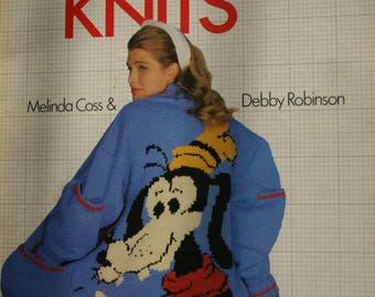 Sweater Knitting Patterns Disney Knits by  Melinda Coss and Debby Robinson Men Women Children Cardigan