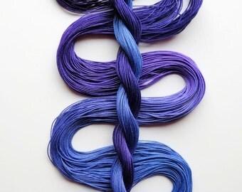 "Size 20 ""Hydrangea Dark"" hand dyed thread 6 cord cordonnet tatting crochet cotton"
