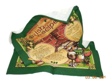 Linen Irish Traditional Recipes Towel