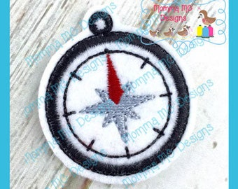 Compass Feltie Machine Embroidery Design File