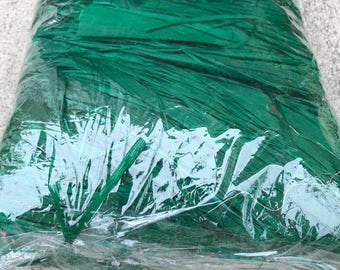 15 oz. bag of hibiscus fiber, hau, more', grass, raffia, bark, purau- for Tahitian costuming Green