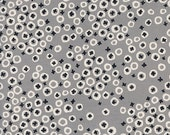 Cotton + Steel Black and White - berry patch - grey - 50cm