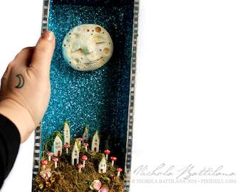 OOAK Tall Happy Moon Starry Night Shrine