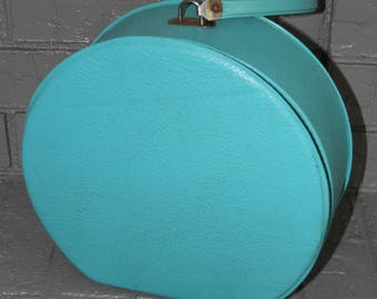 VINTAGE turquoise colored suitcase / luggage