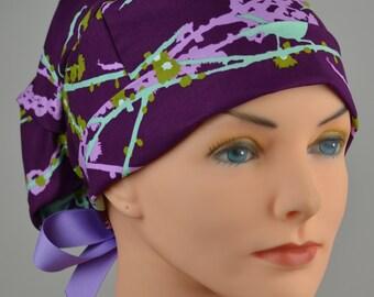 Scrub Hats // Scrub Caps // Scrub Hats for Women // The Hat Cottage // Small // Ribbon Ties // Aviary