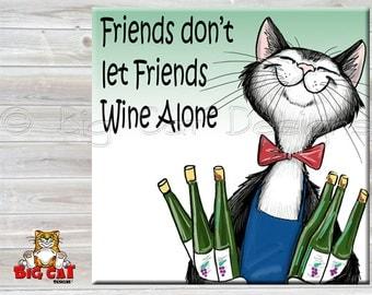 WINE CAT TRIVET, Wine Cat Tile, Drunk Cat, Cat Spoon Rest, Cat sign, Cat lover gift, funny cat gift, funny wine gift.