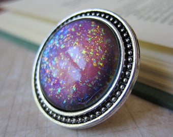 Prism Collection: Supernova - Color-shifting Iridescent Glitter Adjustable Ring