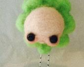Sweet green flower Ooak   art doll