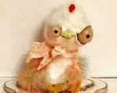 Sweet spring Chicken Ooak   art doll