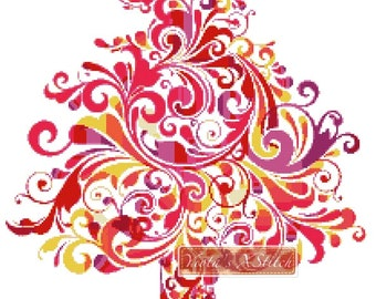 Abstract Christmas tree No3 counted cross stitch kit