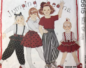 McCall's 5615 Pattern Girls size 4,5,6  Jumping Beans Pattern to sew top, skirt and pants