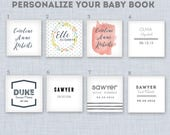 Personalized Name Insert for Baby Memory Book Cover