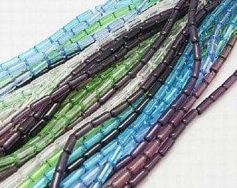 50 Glass Tubes Beads