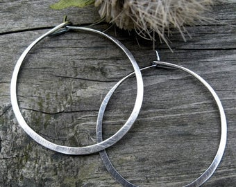 20% OFF TODAY 1.5 Inch Sterling Silver Hoops
