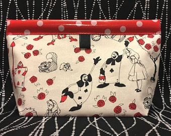 Alice Oilcloth Snappy Pouch - Large