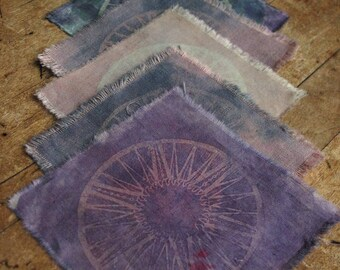 "Solaris - 4x4"" Solar Printed Sew-On Art Patch"