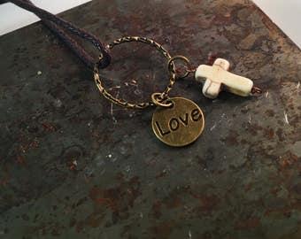 Haiti mission charm necklace
