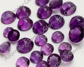 Amethyst 8mm Gemstone Cabochon Rose Cut Micro Faceted FOR ONE