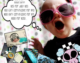 Discounted RockerByeBaby Gift Certificate any amount you choose emailed for xmas delivery
