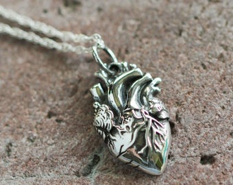 Anatomical heart necklace - Realistic Heart necklace - Gift for nurse - Doctor gift - Heart surgeon gift - Anatomy design - Realistic heart