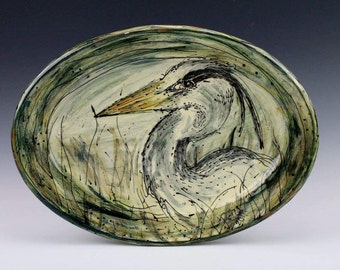 Blue Heron Platter - Large