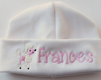 Pink Poodle Newborn Baby Hat