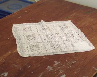 Vintage handmade needle lace doily