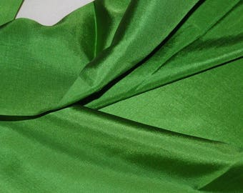 2 yds x 36 wide  SILK Charmeuse fabric lining Apparel pure silk Green in Pantone Color of the Year