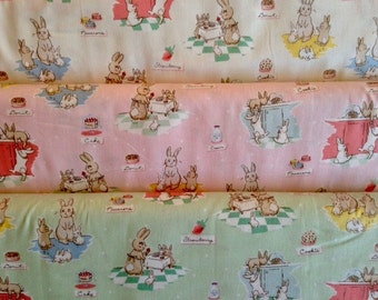 Bunnies And Cream - From Penny Rose Fabrics - By Lauren Nash - For Riley Blake - 3 Yard Set - 31.95 Dollars