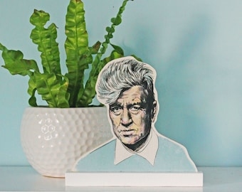David Lynch cut out wood Standee