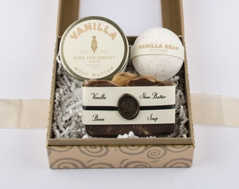 Vanilla Bean Noel Gift Set - Bath Gift Set - Gift For Her - Gift For Her - Valentines Day Gift - Mothers Day Gift