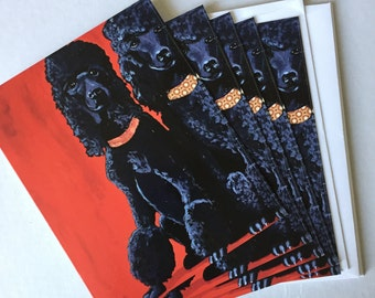 Two Fifis Dalmatians  Notecard Set from Original Painting Collage