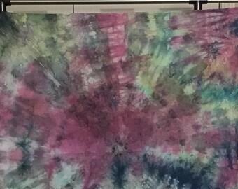 Hand Dyed Fabric - Ocean Sunrise - 1 yard -  Modern Shibori Cotton - 283