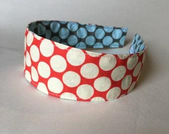 Comfortable Headband-- Washable, Reversible-- Amy Butler full moon dot