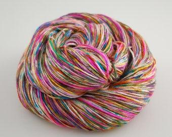 """Shiny Happy- """"Graffiti"""" - 435 yards 100 grams  50/50 superwash merino and silk"""
