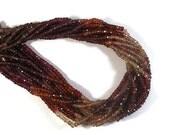 Cyber Monday SALE - AWESOME Tunduru Sapphire Beads, Blue, Brown, Red & Purple Gemstones, 6.5 Inch Strand, 3.8-4mm (R-Tsa2)