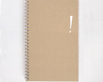 kraft foil notebook - exclamation