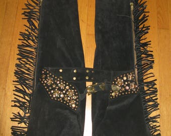 Katherine Balmann Rock and Roll Western Chaps 1980s 80s Cowgirl